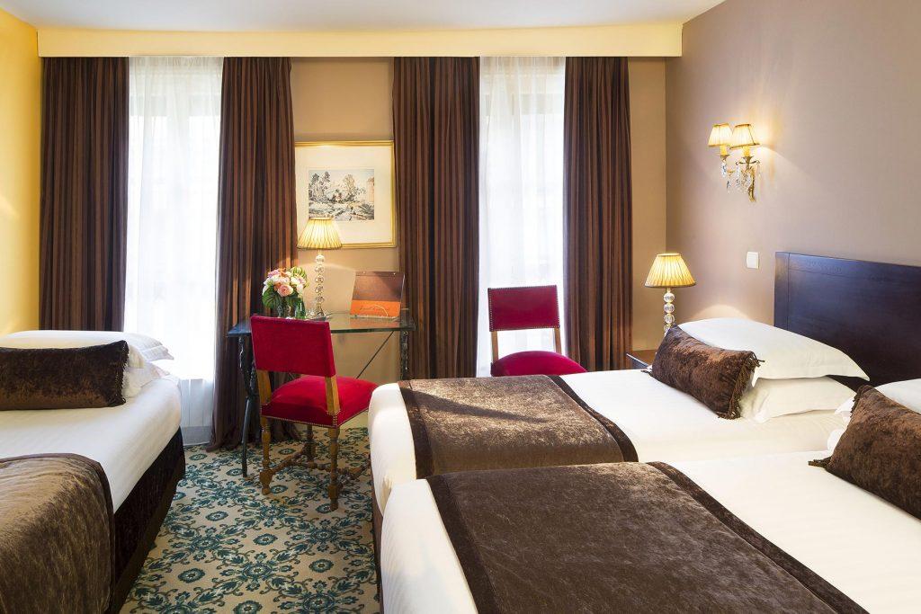 Chambres triple hotel des 2 Continents Paris